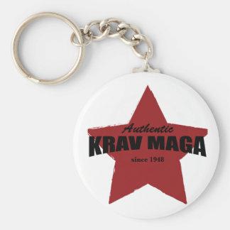 Authentisches Krav Maga seit 1948 Standard Runder Schlüsselanhänger
