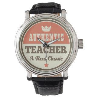 Authentisches Lehrer-(lustiges) Geschenk Armbanduhr