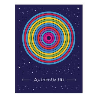 Authentizität Postkarte