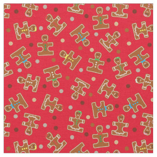 Autism Awareness Ginger Puzzle Men Holiday Stoff