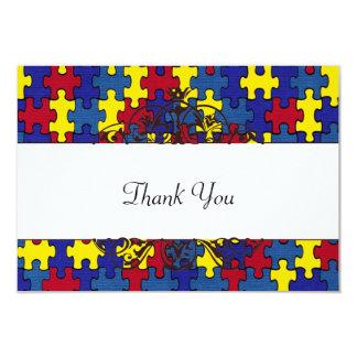 AutismThank Sie 8,9 X 12,7 Cm Einladungskarte