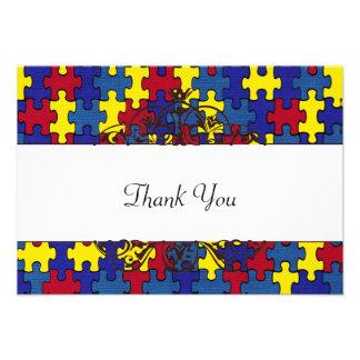 AutismThank Sie Personalisierte Einladungskarten