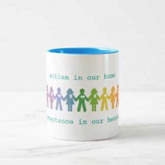 Autismus-Annahme-Tasse Zweifarbige Tasse