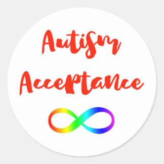 Autismus-Annahme-Unendlichkeits-Symbol Runder Aufkleber