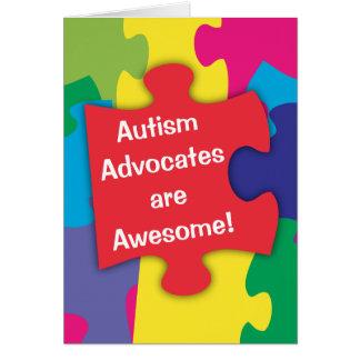 Autismus-Anwälte sind fantastisch Karte