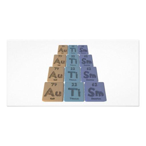 Autismus-Au-Ti-Inspektion-Gold-Titan-Samarium Individuelle Foto Karte