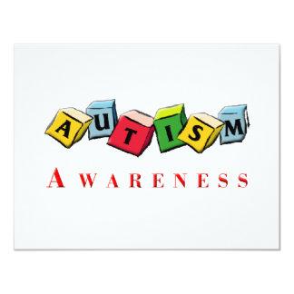 Autismus Awaress 10,8 X 14 Cm Einladungskarte
