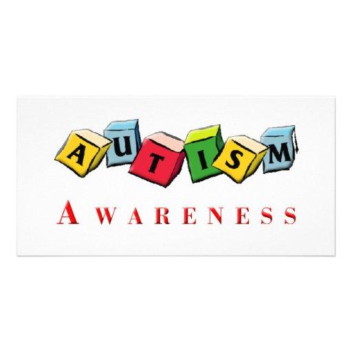 Autismus Awaress Foto Karten Vorlage