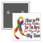 Autismus-Band-Held in meinem Leben mein Sohn Anstecknadelbutton