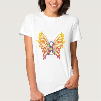 Autismus-Band-Schmetterling T Shirt