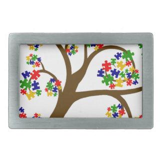 Autismus-Baum des Lebens Rechteckige Gürtelschnallen