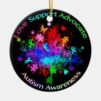 Autismus-Baum im Spektrum Keramik Ornament