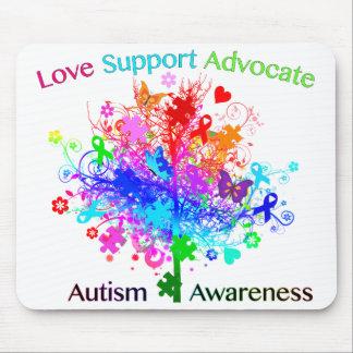 Autismus-Baum im Spektrum Mauspad