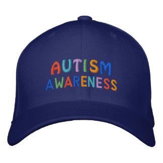 Autismus-Bewusstsein Bestickte Kappe