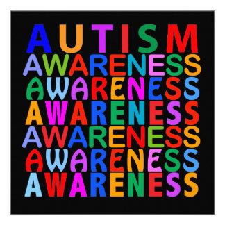 Autismus-Bewusstsein Personalisierte Einladungen