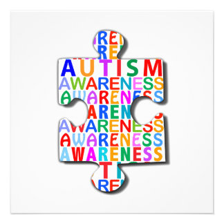 Autismus-Bewusstsein Individuelle Ankündigskarten