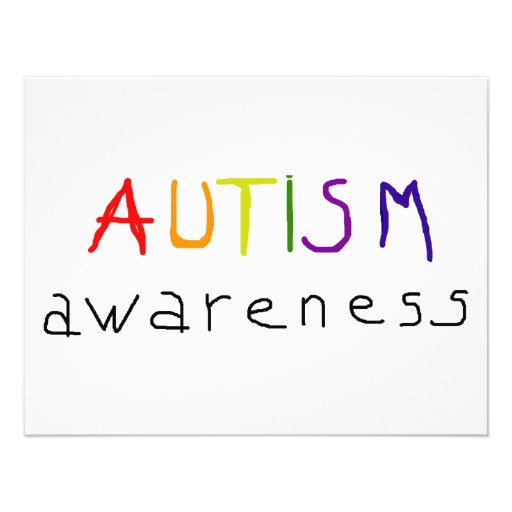 Autismus-Bewusstsein Personalisierte Einladung