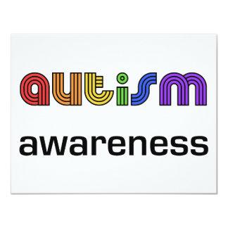 Autismus-Bewusstsein! 10,8 X 14 Cm Einladungskarte