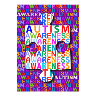 Autismus-Bewusstsein Einladungen