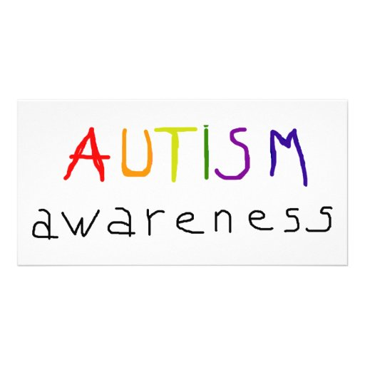 Autismus-Bewusstsein Personalisierte Photo Karte