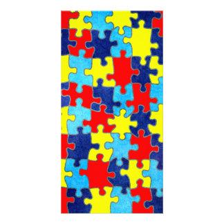 Autismus-Bewusstsein Fotogrußkarten