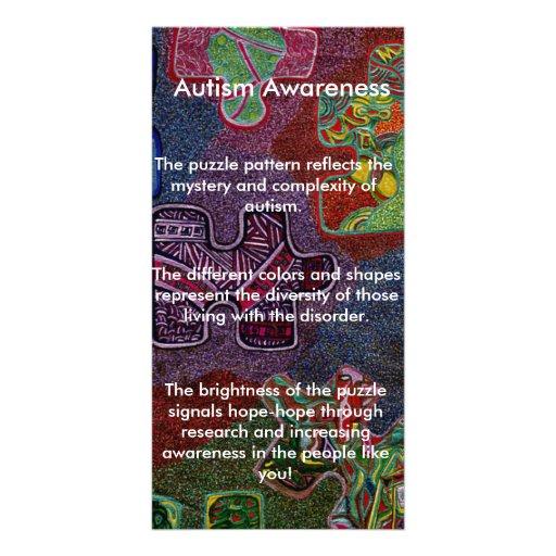 Autismus-Bewusstsein Photo Karten Vorlage