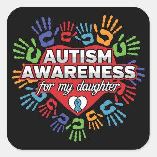 Autismus-Bewusstsein für meine Tochter Quadratischer Aufkleber