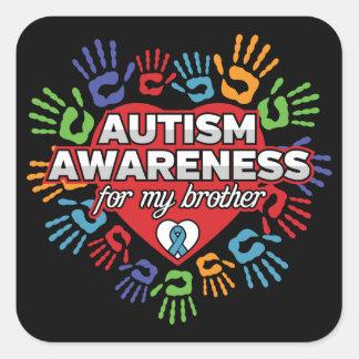 Autismus-Bewusstsein für meinen Bruder Quadratischer Aufkleber