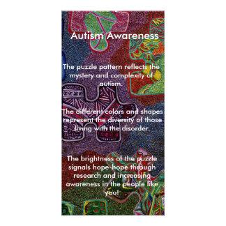Autismus-Bewusstsein Photo Karten