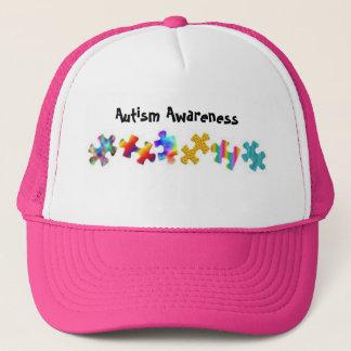 Autismus-Bewusstsein (Pink/Weiß) Truckerkappe