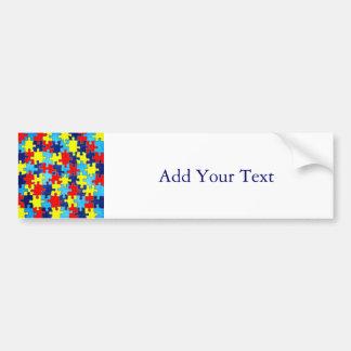 Autismus Bewusstsein-Puzzlespiel durch Shirley Autoaufkleber