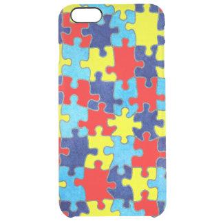 Autismus Bewusstsein-Puzzlespiel durch Shirley Durchsichtige iPhone 6 Plus Hülle
