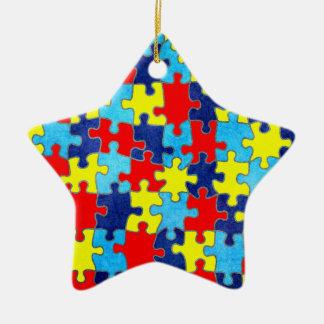 Autismus Bewusstsein-Puzzlespiel durch Shirley Keramik Ornament