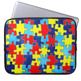 Autismus Bewusstsein-Puzzlespiel durch Shirley Laptopschutzhülle