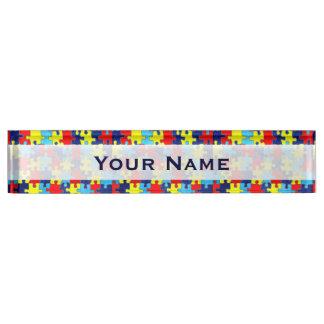 Autismus Bewusstsein-Puzzlespiel durch Shirley Namensplakette