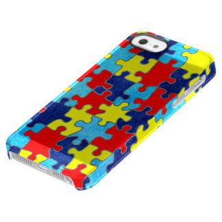 Autismus Bewusstsein-Puzzlespiel durch Shirley Permafrost® iPhone SE/5/5s Hülle