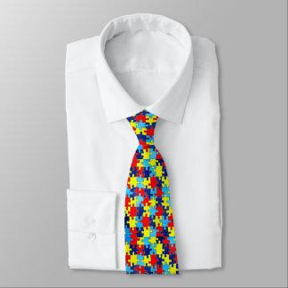 Autismus Bewusstsein-Puzzlespiel durch Shirley Personalisierte Krawatten