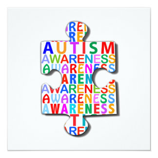 Autismus-Bewusstsein Quadratische 13,3 Cm Einladungskarte