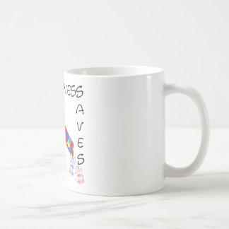 Autismus-Bewusstsein rettet Verstand Kaffeetasse