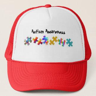 Autismus-Bewusstsein (rot/Weiß) Truckerkappe