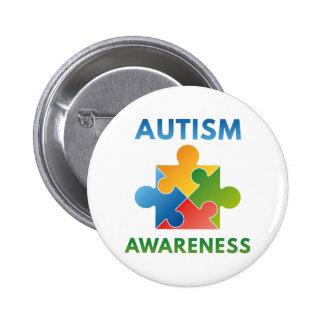 Autismus-Bewusstsein Runder Button 5,7 Cm