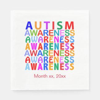 Autismus-Bewusstsein Papierservietten