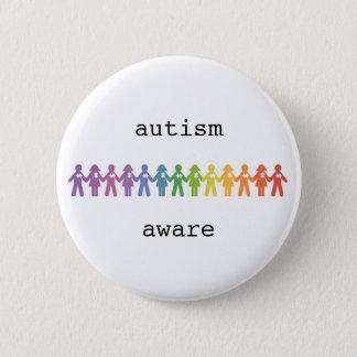 Autismus-Bewusstseins-Abzeichen Runder Button 5,7 Cm