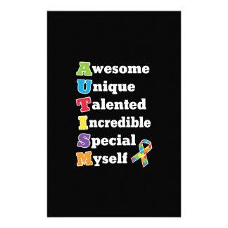 Autismus-Bewusstseins-Akronym Briefpapier