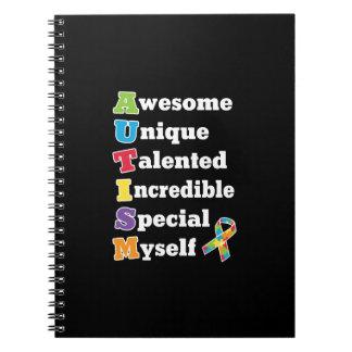 Autismus-Bewusstseins-Akronym Notizblock