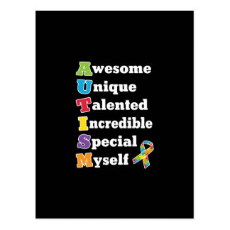 Autismus-Bewusstseins-Akronym Postkarte
