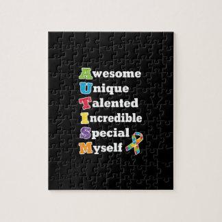 Autismus-Bewusstseins-Akronym Puzzle