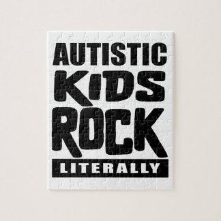 Autismus-Bewusstseins-autistischer Kinderfelsen Puzzle