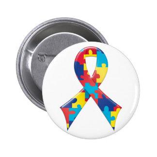 Autismus-Bewusstseins-Band A4 Buttons