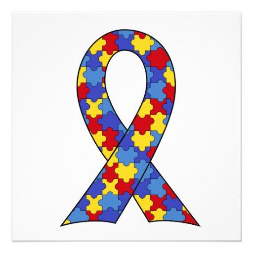 Autismus-Bewusstseins-Band Personalisierte Ankündigungen